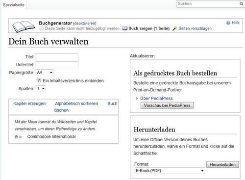 Buchverwaltung - Quelle Wikipedia