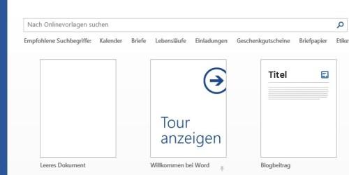 Word 2013 - Blogbeitrag Formatvorlage wählen