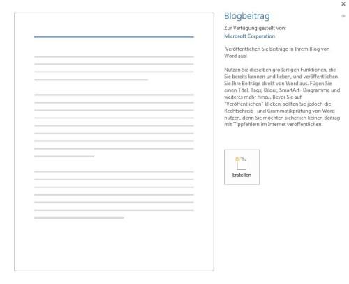 Word 2013 - Blogbeitrag erstellen