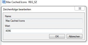 Registry - Iconcache Wert einstellen