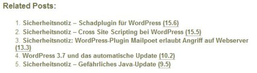 Yet another Related Posts Plugin YARPP