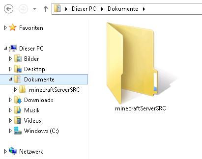 Arbeitsverzeichnis unter Windows