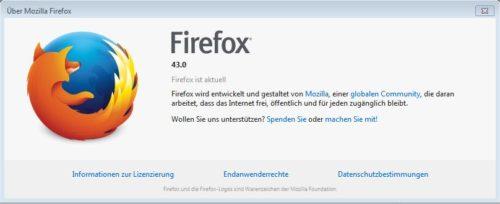 Firefox - veraltete Version wird als aktuell angezeigt