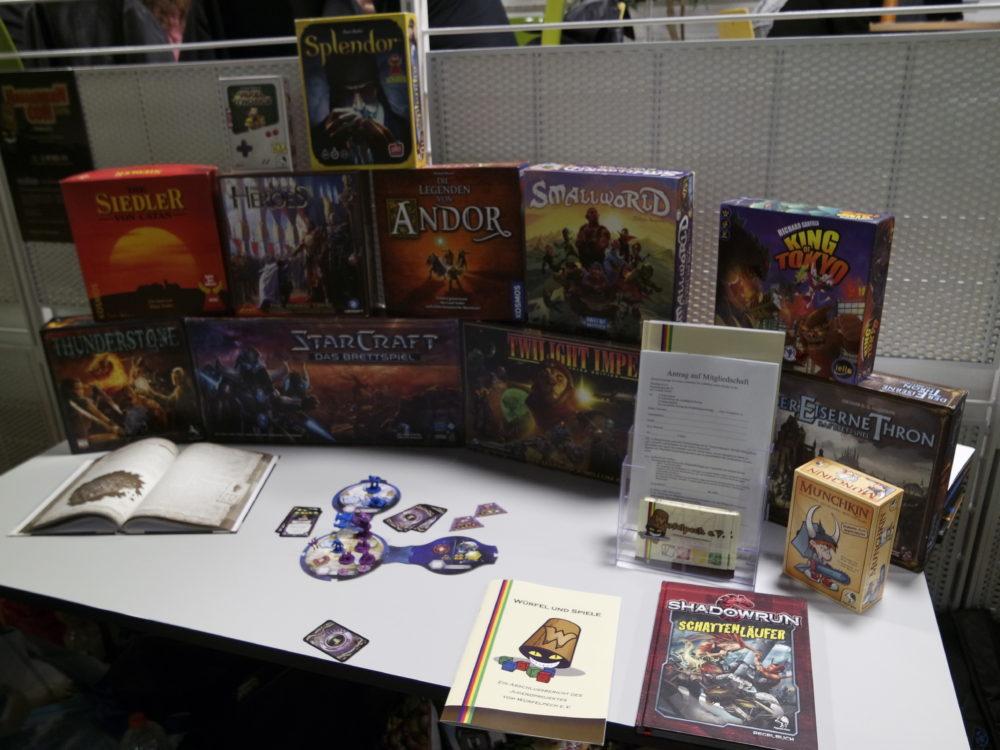 Verschiedene Brettspielumsetzungen von Computerspielen