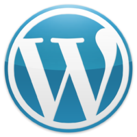Blaues WordPress Logo